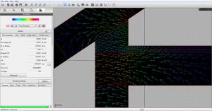Heat flow direction visualization
