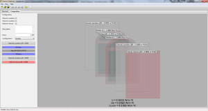 System composition: two windows, courtains and blinds
