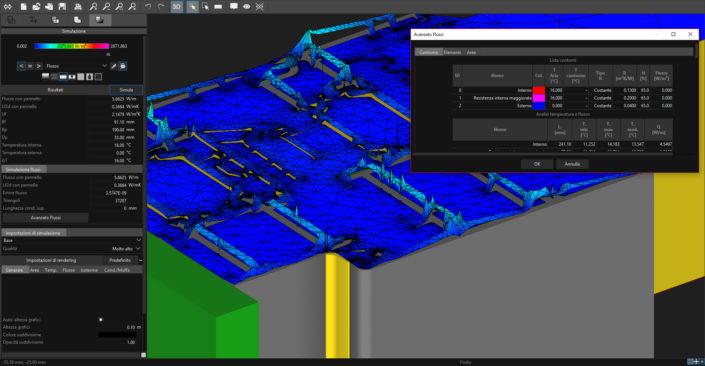 Frame Simulator Flusso Termico