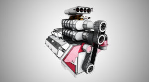 Engine rendered with SketchFX and AmbientOcclusion