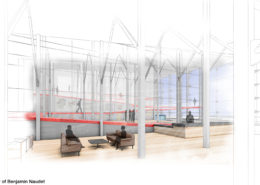 Reception Interior View by Benjamin Naudet