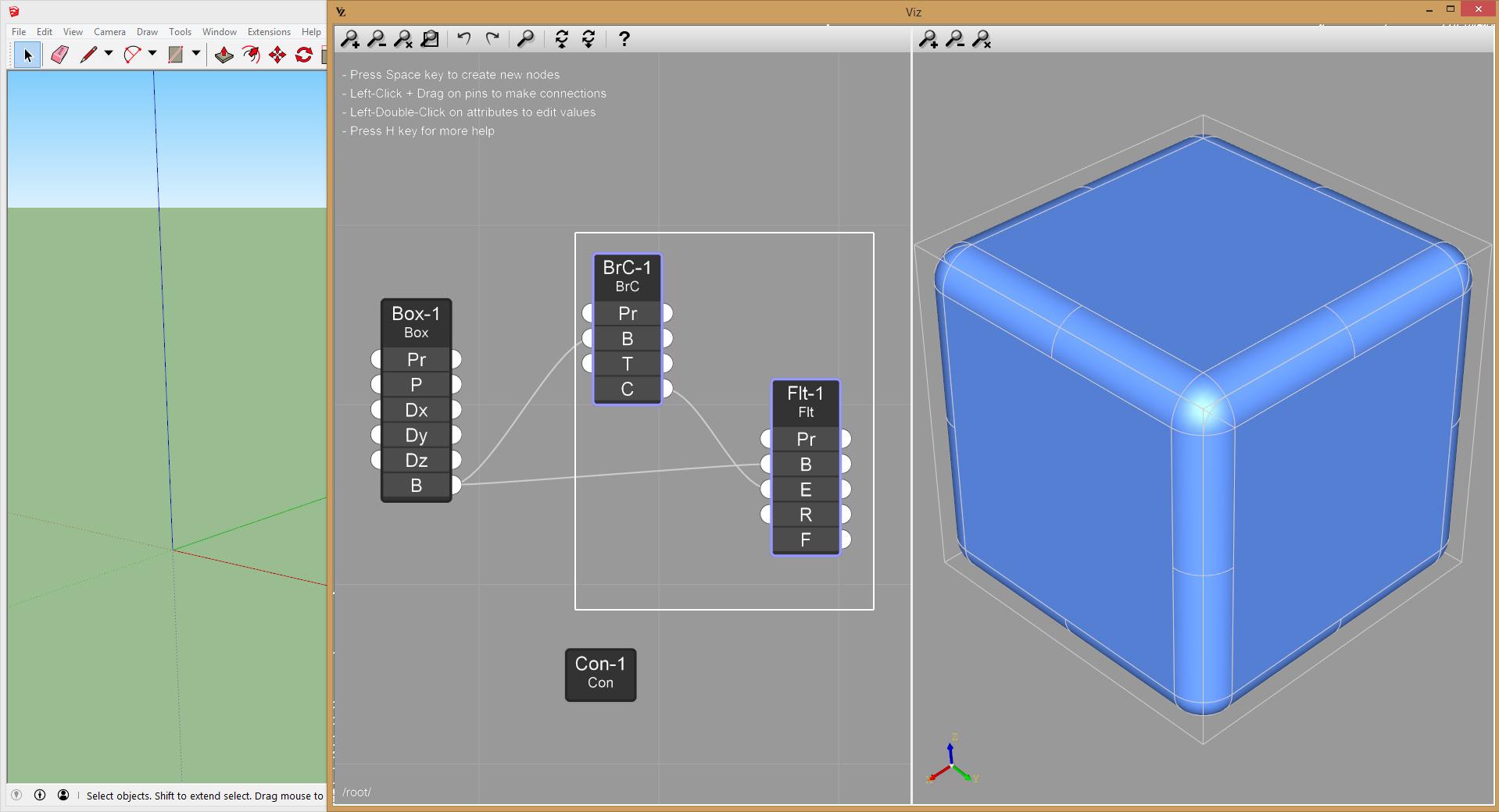 Viz Pro cut nodes