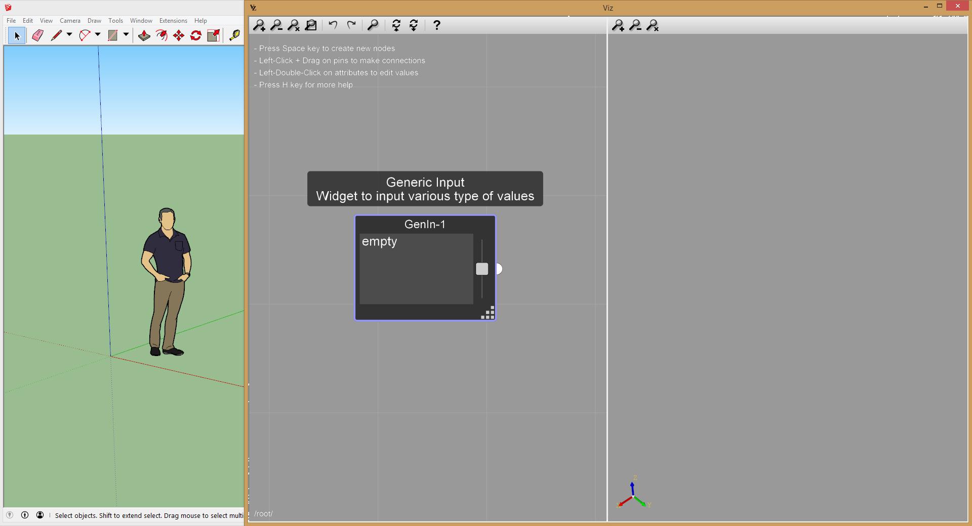 Viz Pro generic input