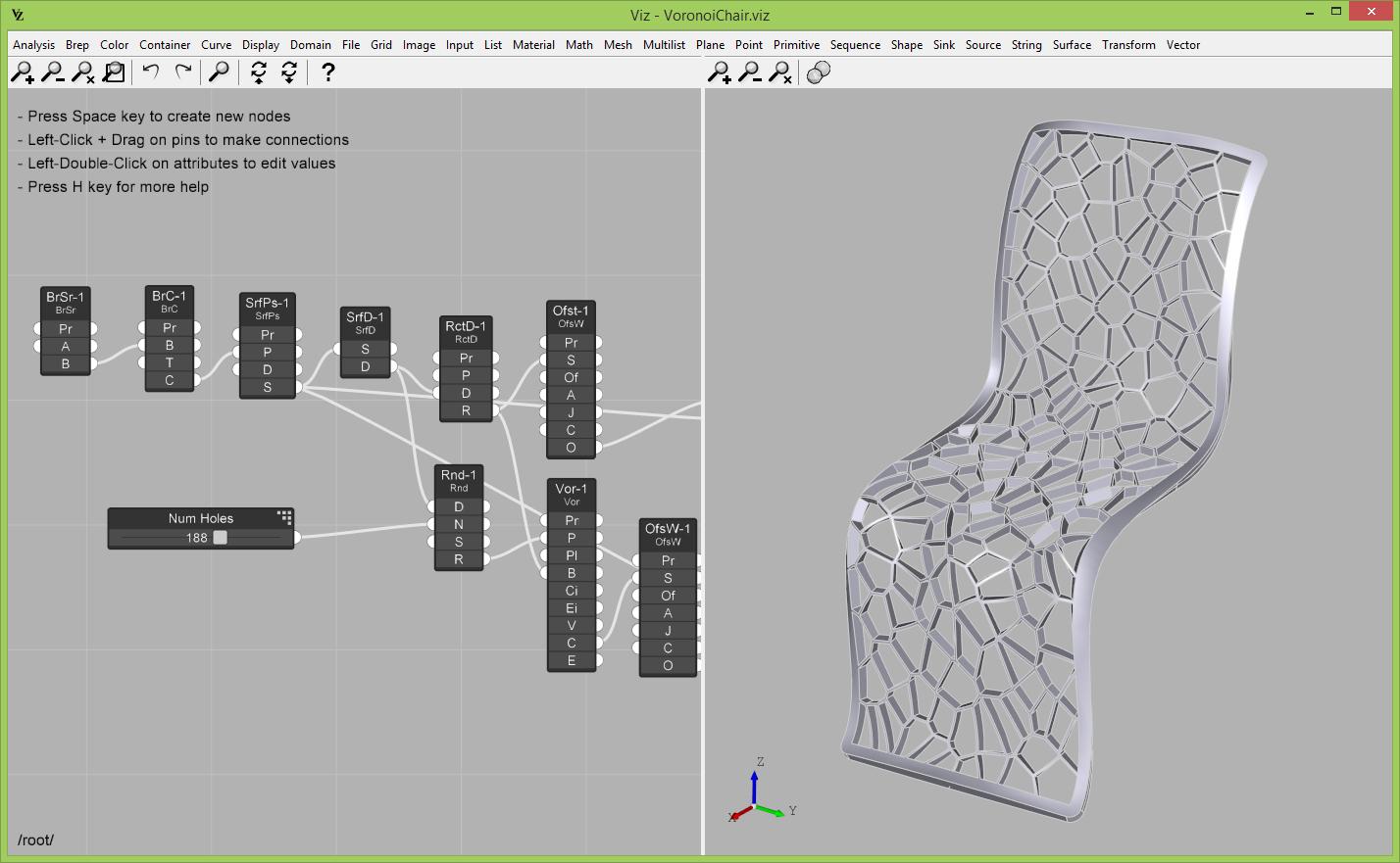 Viz Studio Parametric Modeling