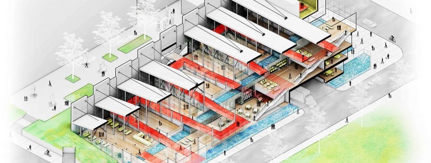 Completed Cutaway Isometric by Benjamin Naudet