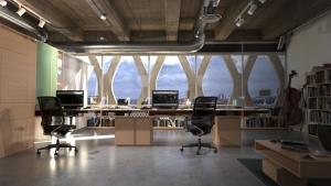FluidRay coworking space rendering