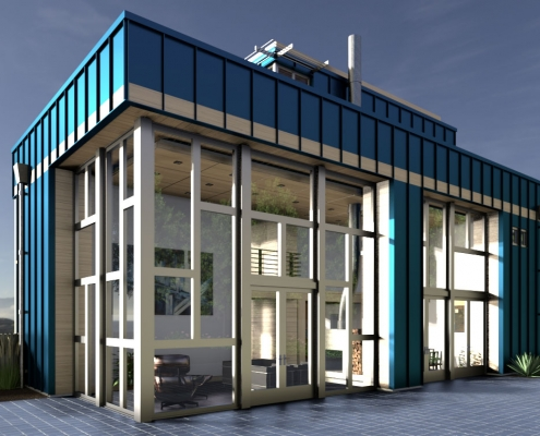 Container house rendering for SketchUp