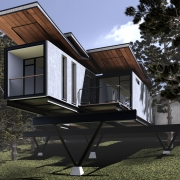 SketchUp Hill Villa Rendering